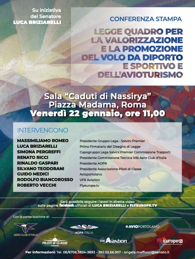 Legge Avioturismo- Briziarelli- FlyEurope